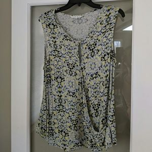 Cabi sleeveless wrap top Size L
